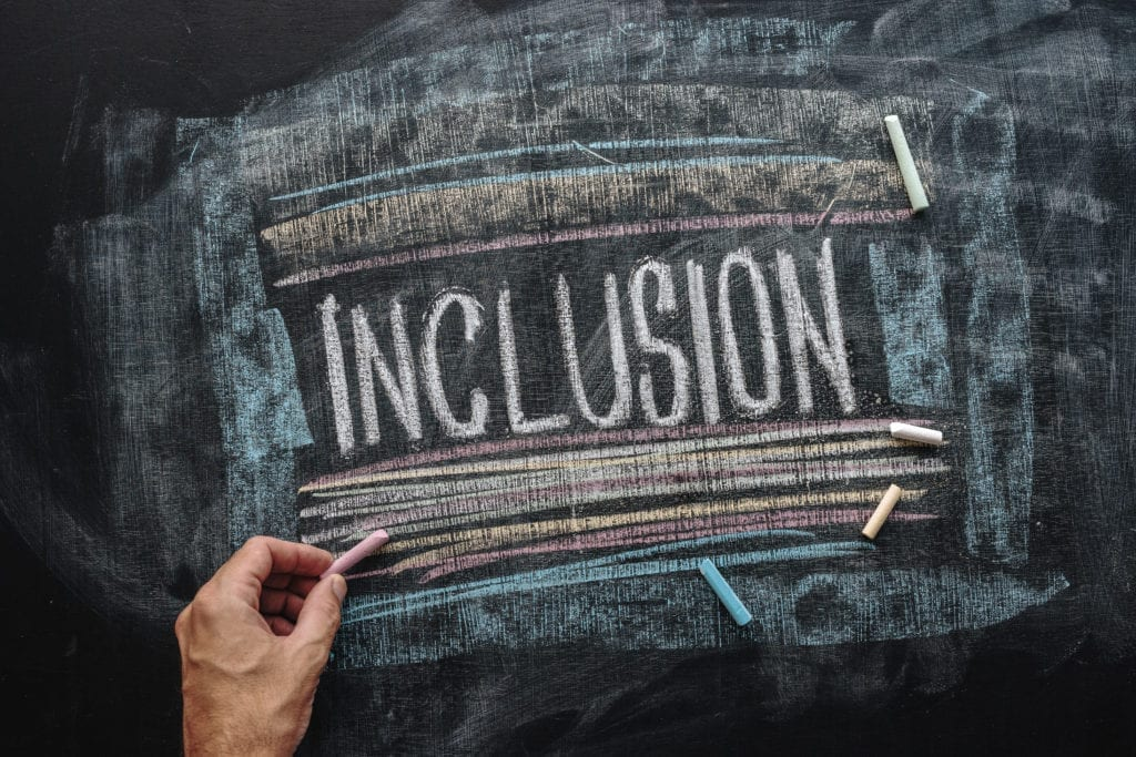 diversability inclusion on chalkboard