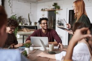 diverse team in the workplace