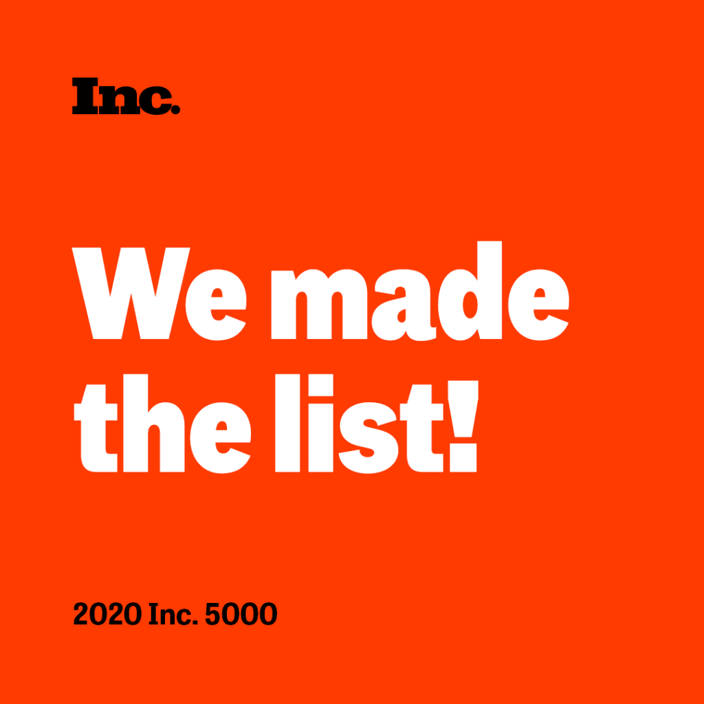 inc 5000 list we made the list logo on orange