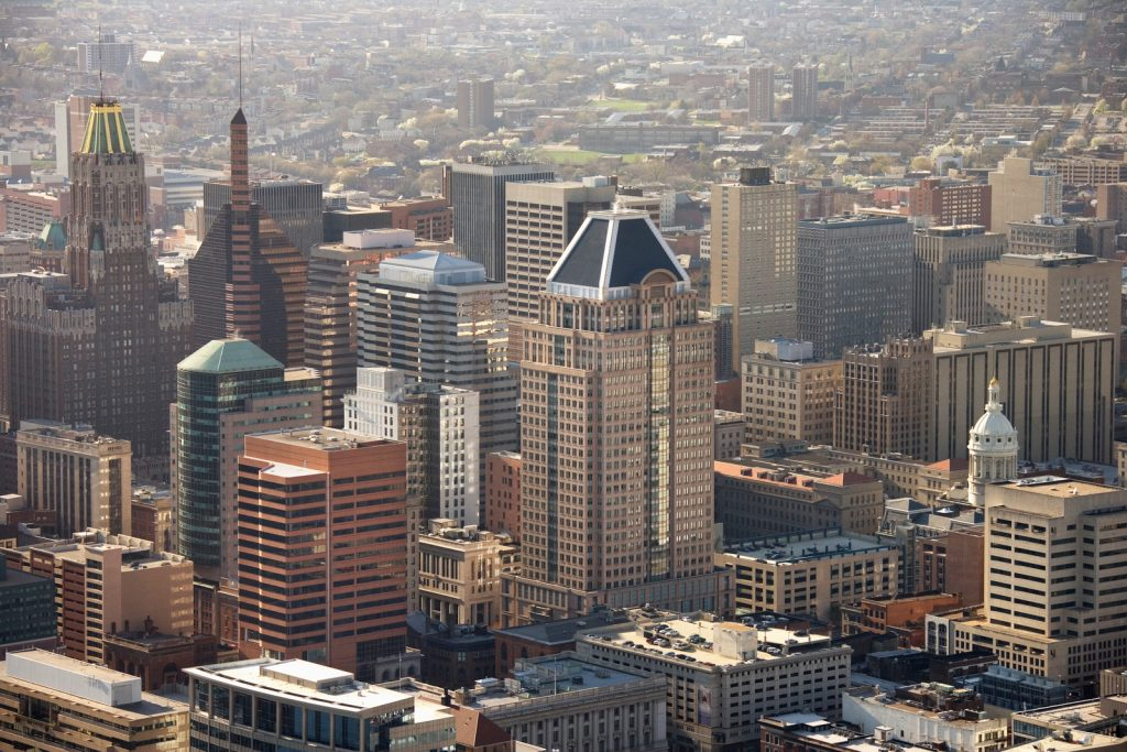 panoramic view of baltimore including women-owned businesses