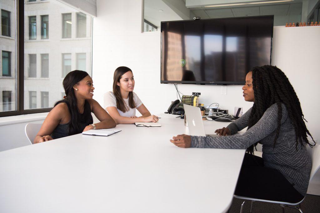 team working together preventing discrimination in hiring